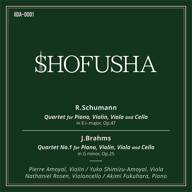 R.Schumann: Quartet for Piano, Violin, Viola and Cello in E♭major, Op.47 / J.Brahms: Quartet No.1 for Piano, Violin, Viola and Cello in G minor, Op.25